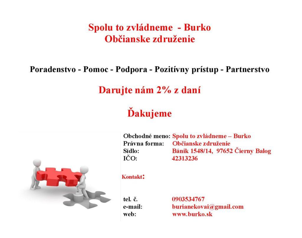 Pomôžte vážne chorým ľuďom formou darovania 2% z daní